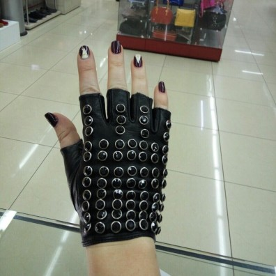 Кожаные перчатки №299