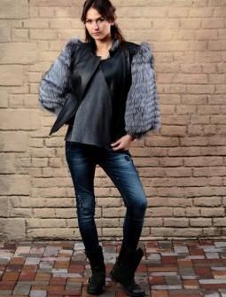 Кожаная куртка с мехом № 50