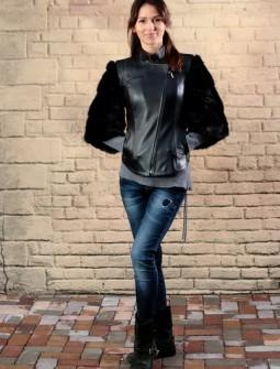 Кожаная куртка с мехом № 85