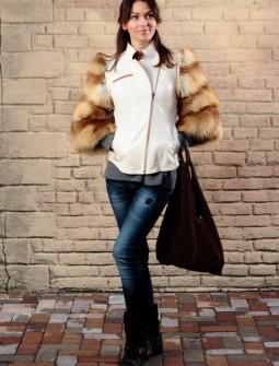 Кожаная куртка с мехом № 86