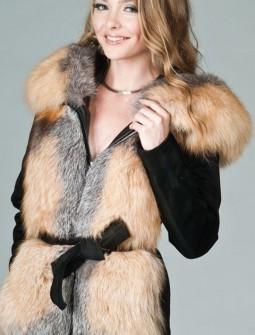 Кожаная куртка с мехом № 133