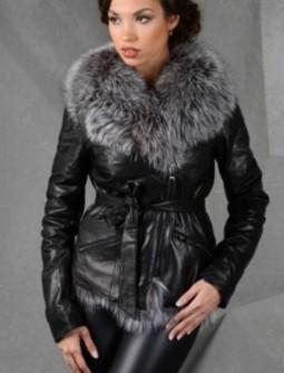 Кожаная куртка с мехом № 134
