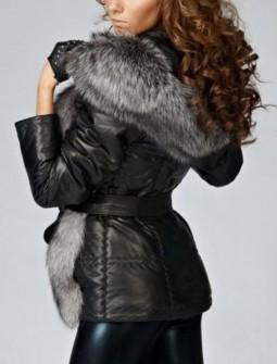 Кожаная куртка с мехом № 135
